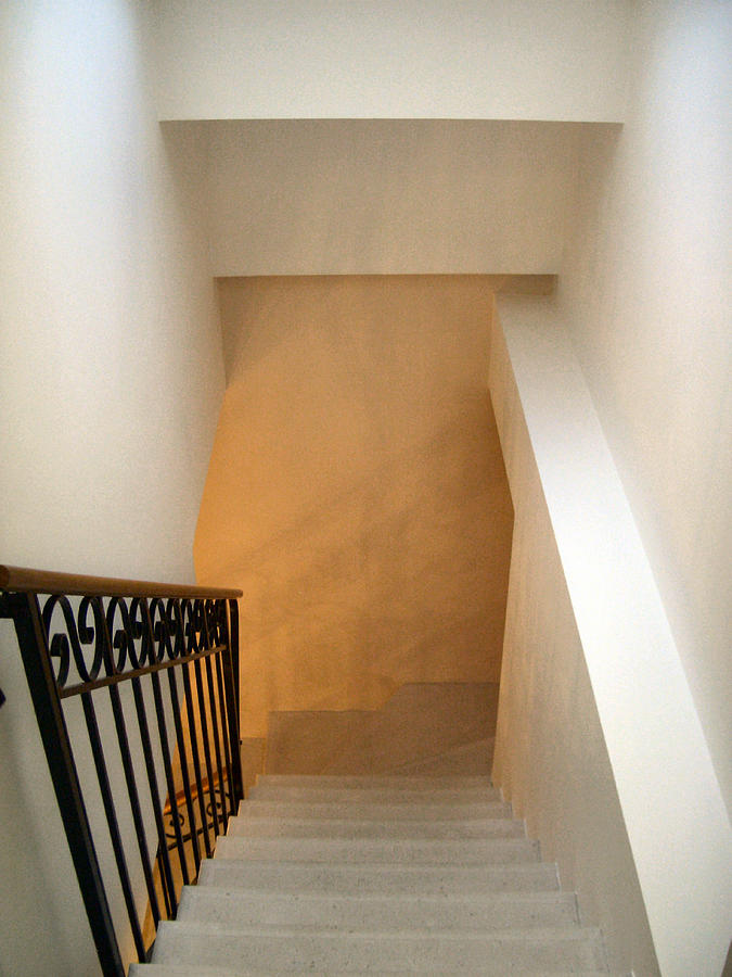 Staircase Photograph - Less by Lin Grosvenor
