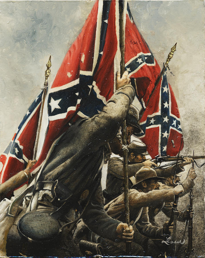Civil War Painting - They Are Ours by Ron Lesser