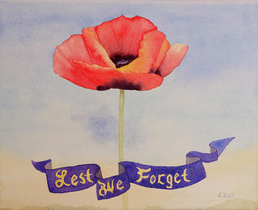 Rememberance Painting - Lest We Forget by Laurel Best