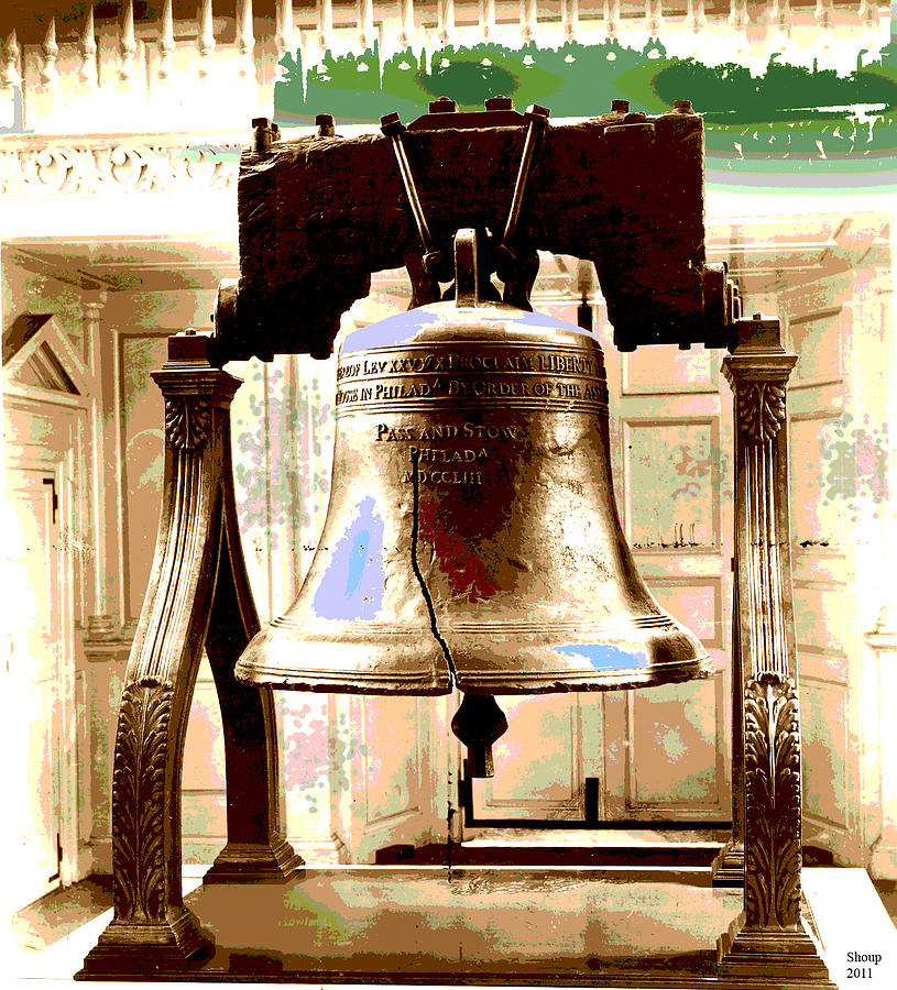 Philadelphia Mixed Media - Let Freedom Ring by Charles Shoup