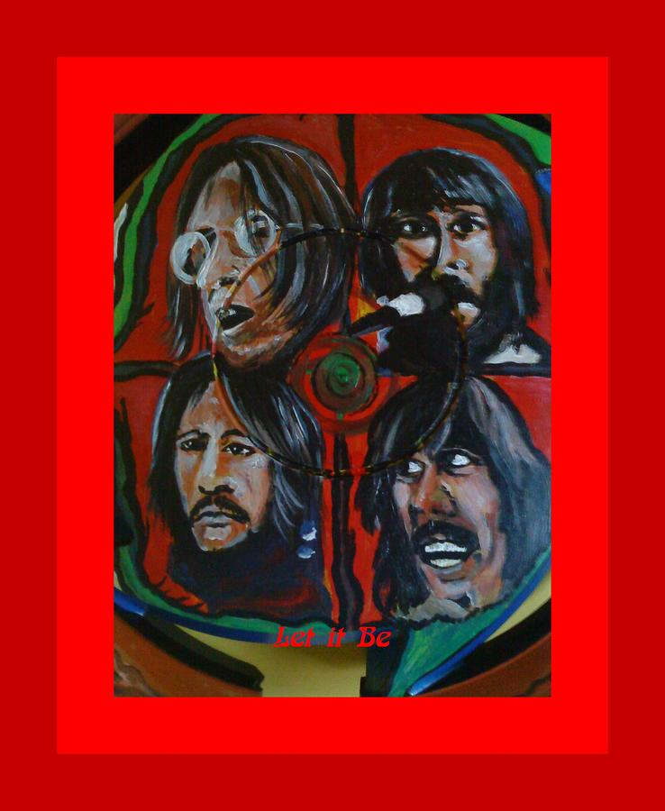 The Beatles Painting - Let It Be by Colin O neill