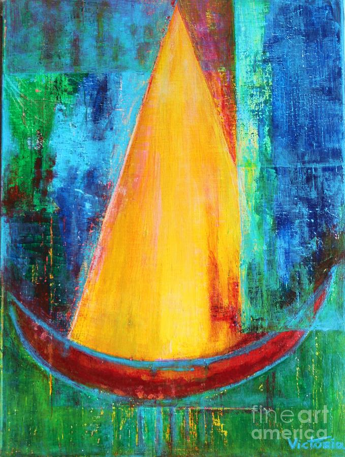 Abstraction Painting - Let It Be by Victoria Galtsova