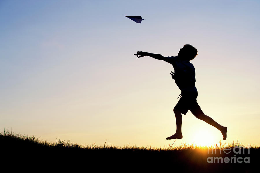Boy Photograph - Let It Fly by Tim Gainey