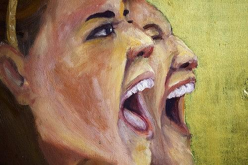Let It Out-closeup Painting by Carter Neal
