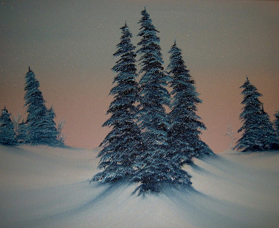 Trees Painting - Let It Snow by Rani Mullane