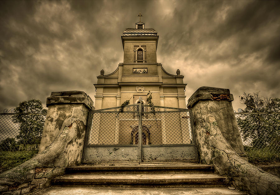 Church Photograph - Let Love In by Evelina Kremsdorf