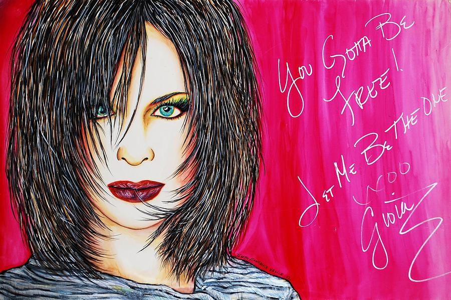 Autographed Mixed Media - Let Me B Free And The One by Joseph Lawrence Vasile