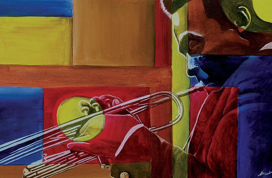 Jazz Painting - Let Me Play by Stacy V McClain
