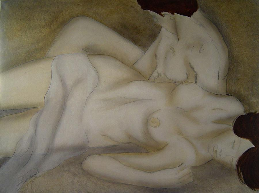 Nude Painting - Let Me See Your Beauty by Bridgette  Allan