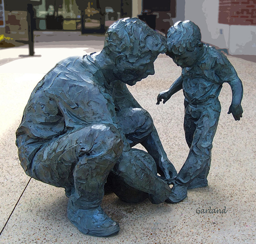 Sculptor Mixed Media - Let Me Show You How It Is Done by Garland Johnson
