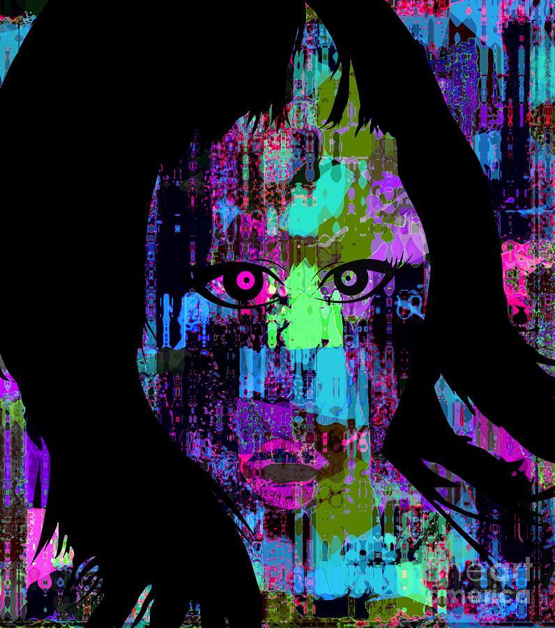 Fania Simon Mixed Media - Let My Eyes Speak For Me by Fania Simon