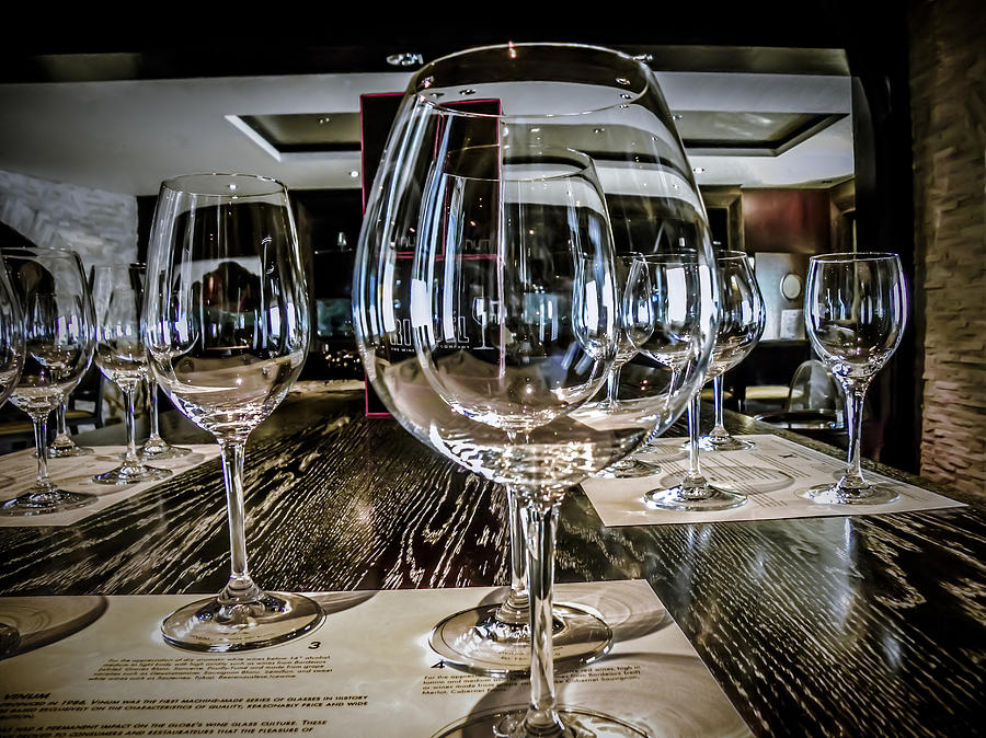 Wine Glasses Photograph - Let The Wine Tasting Begin by Julie Palencia