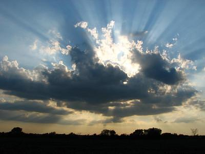 Sky Photograph - Let There Be Light by Ashley Cameron