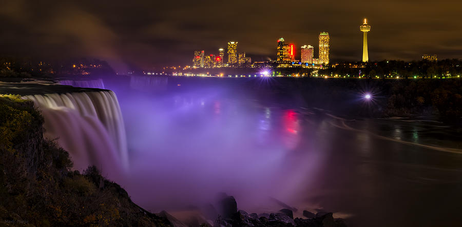 Niagara Falls Photograph - Let There Be Light by Mark Papke