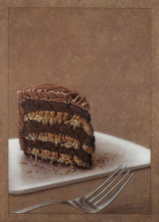 Chocolate Painting - Let Us Eat Cake by James W Johnson