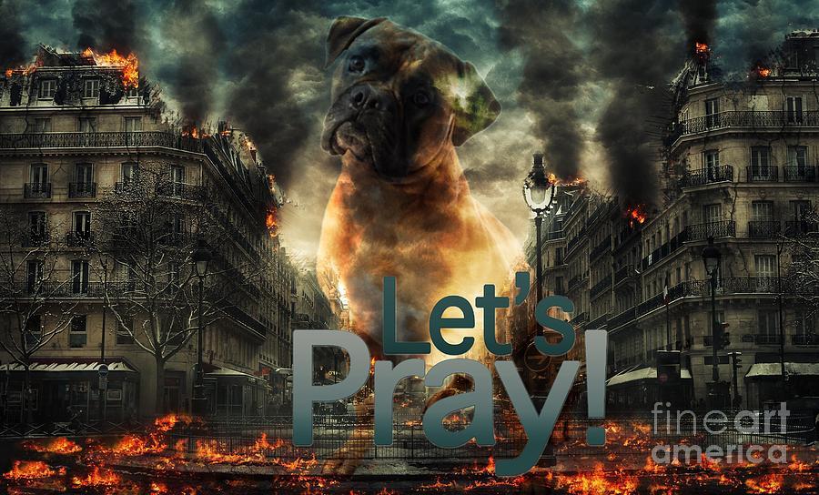 Let Us Pray-2 by Kathy Tarochione