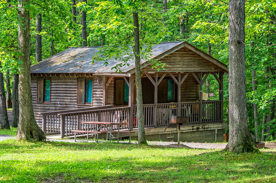 Steve Harrington Photograph   Letchworth State Park Cabin By Steve  Harrington