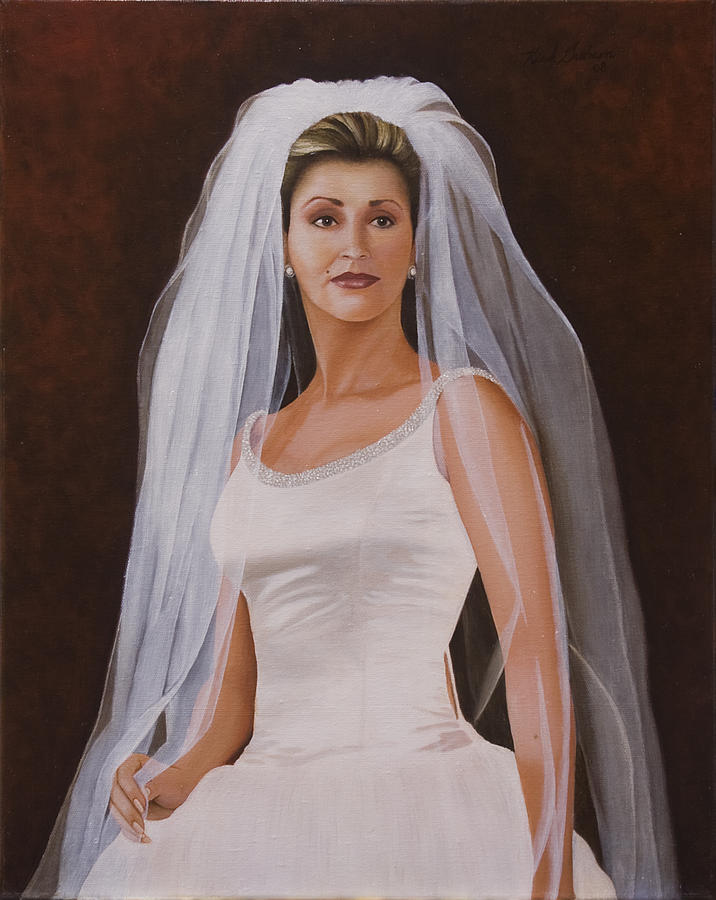 Bride Painting - Leticia by Kirk Graham
