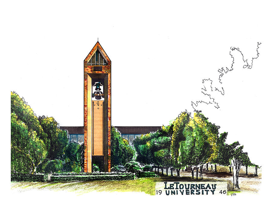 LeTourneau University Bell Tower by Yang Luo-Branch
