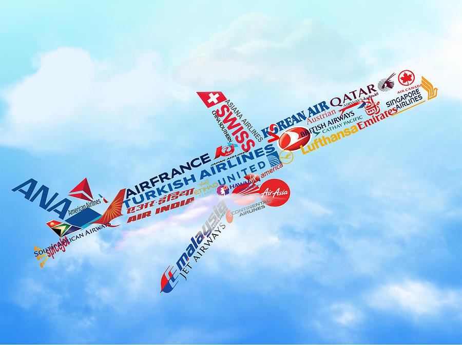 Plane Digital Art - Lets Fly by Art Spectrum