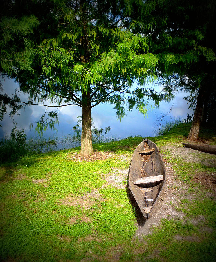 Wooden Canoe Photograph - Lets Go . . by Tammy Chesney