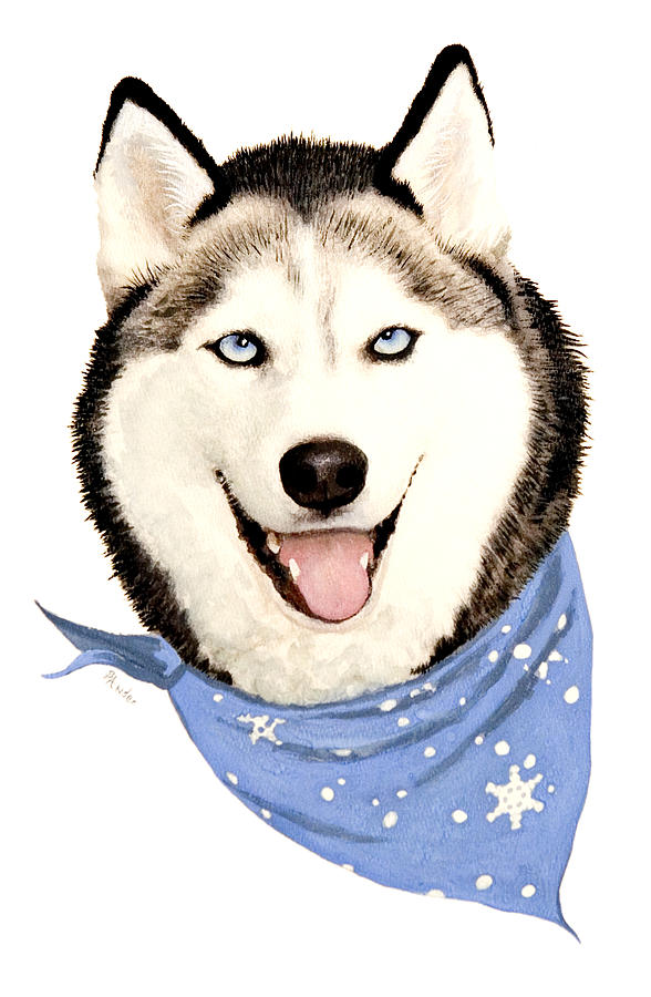 Siberian Husky Painting - Lets Go by Brent Ander