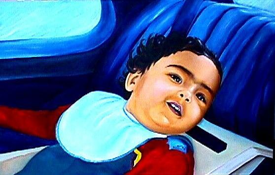 Baby Painting - Lets Go Bye Bye by Elena Shideler