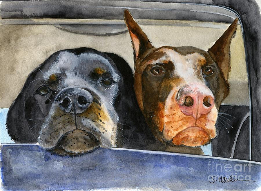 Original Watercolor Painting - Lets Go For A Ride by Sheryl Heatherly Hawkins