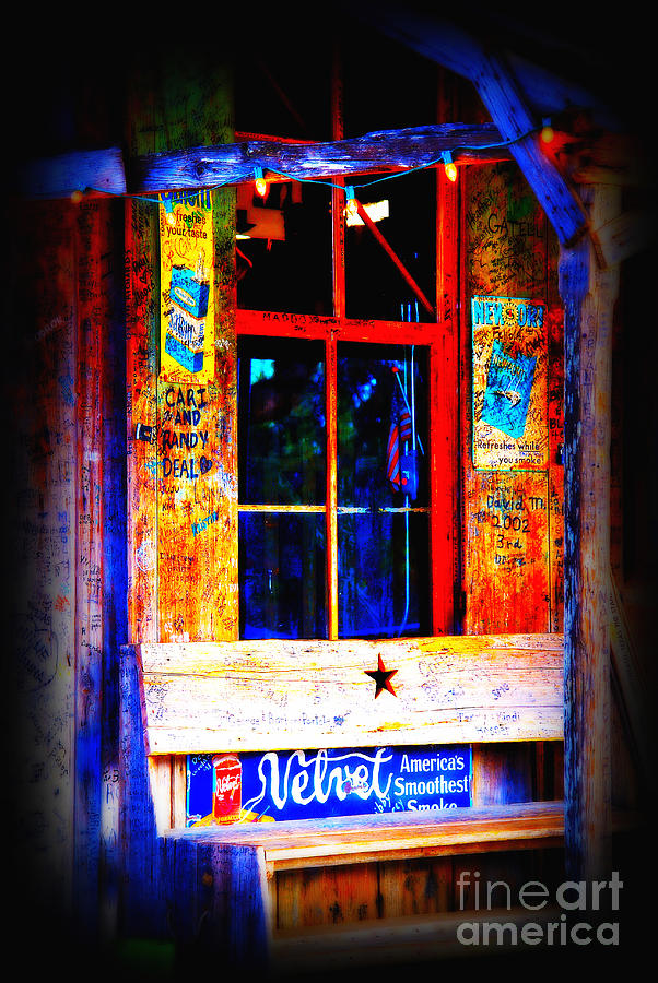 Luckenbach Photograph - Lets Go To Luckenbach Texas by Susanne Van Hulst