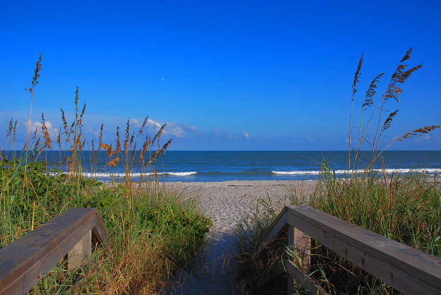 Cocoa Beach Photograph - Lets Go To The Beach by Susanne Van Hulst