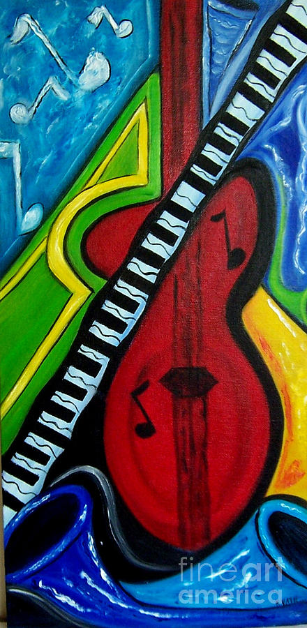 Music Painting - Lets Jam by Karen Day-Vath