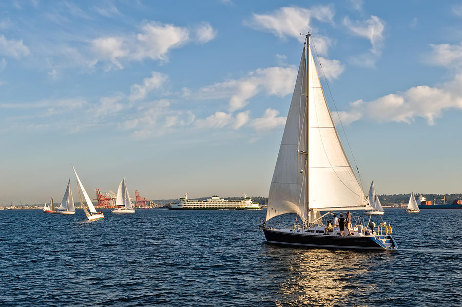 Seattle Photograph - Lets Sail by Tom Dowd