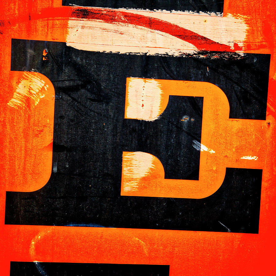 Letter Photograph - Letter E by Carol Leigh