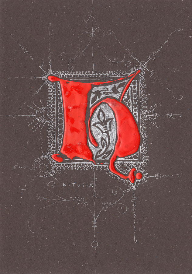 Letter H Drawing - Letter H by Kristine Jansone