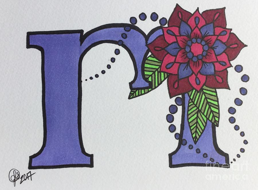 Letter M Drawing By Jessica Speakman