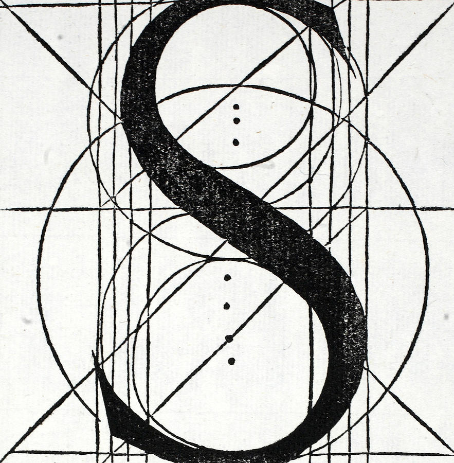 One Line Letter Art : Letter s drawing by leonardo da vinci