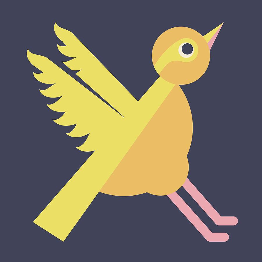 Letter X - Animal Alphabet - Xenops Monogram Digital Art by Jen ...