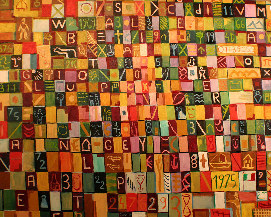 Letters And Numbers Painting by Biagio Civale