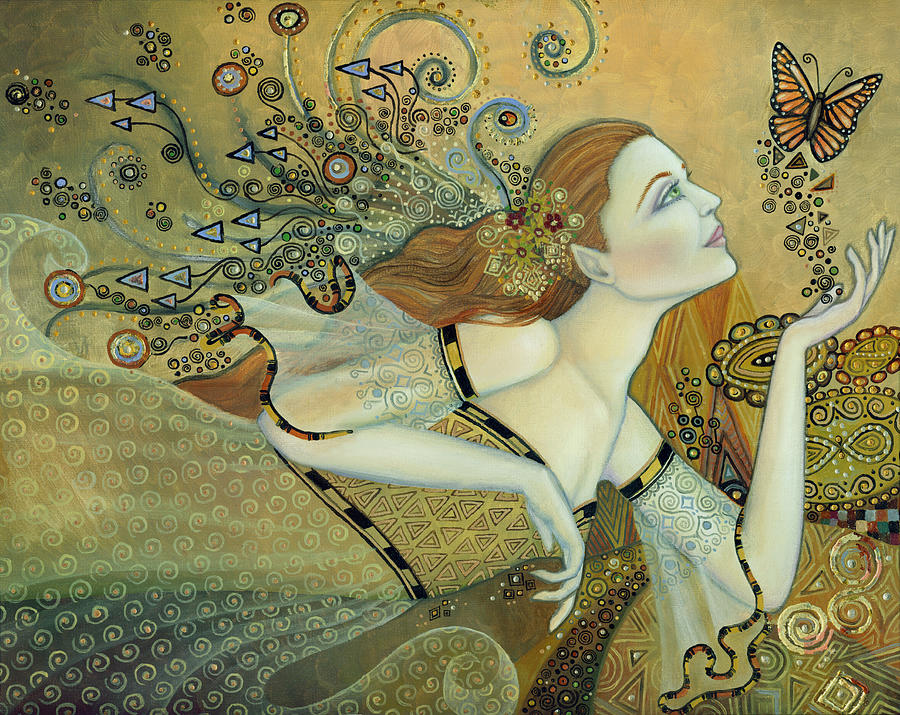 Butterfly Painting - Letting Go by B K Lusk