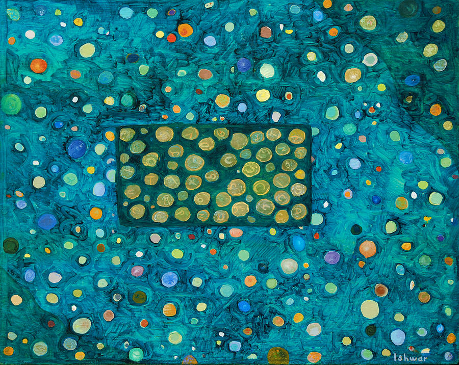 Abstract Painting - Letting Go by Ishwar Malleret