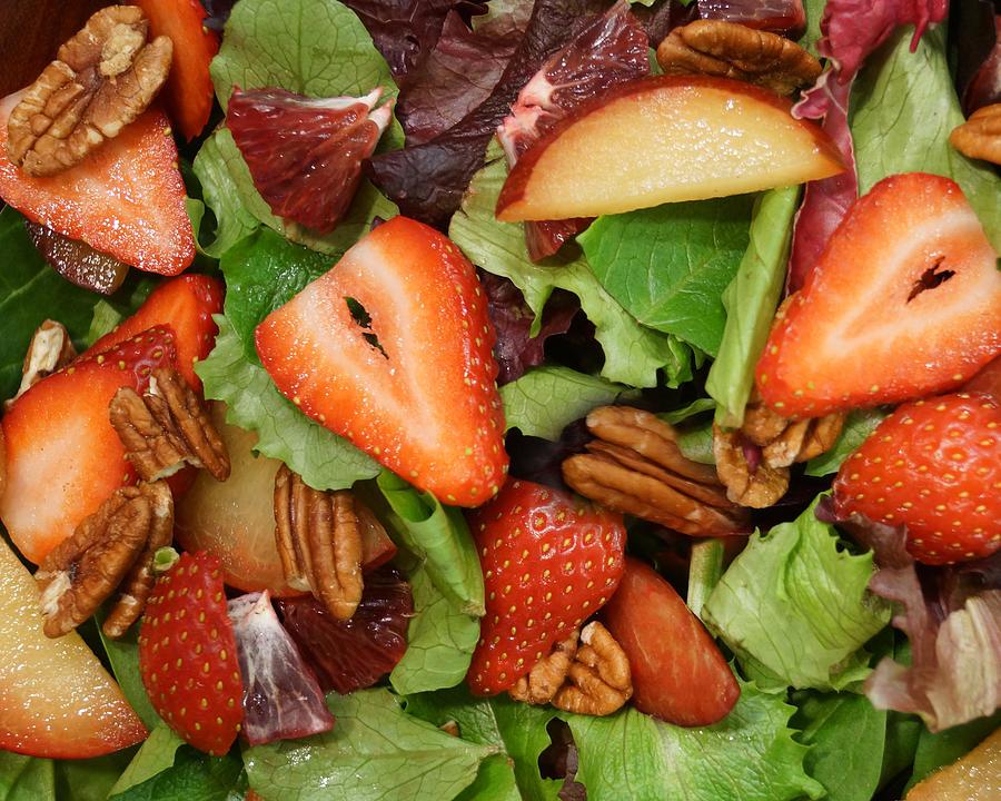 Lettuce Strawberry Plum Salad by Jana Russon