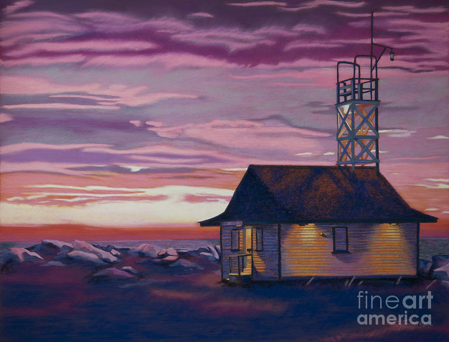 Canada Pastel - Leuty Life Guard House by Tracy L Teeter