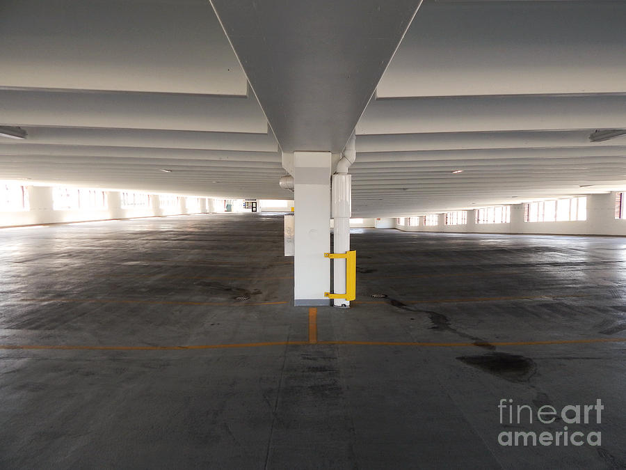 Parking Structure Photograph - Levels Of A Parking Structure by Phil Perkins