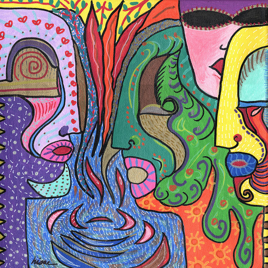 Colorful Painting - Levels by Sharon Nishihara