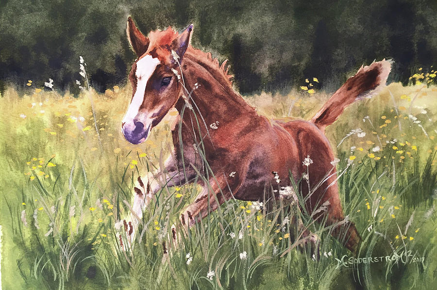 Foal Painting - Levi by Michele Soderstrom