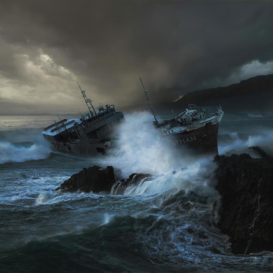 Sea Photograph - Leviathan by Michal Karcz