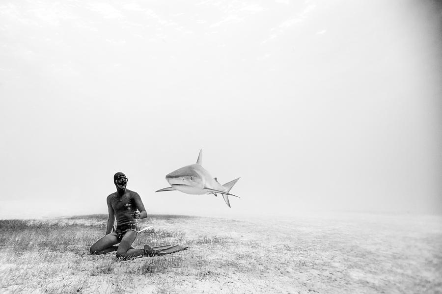Freediving Photograph - Levitation by One ocean One breath