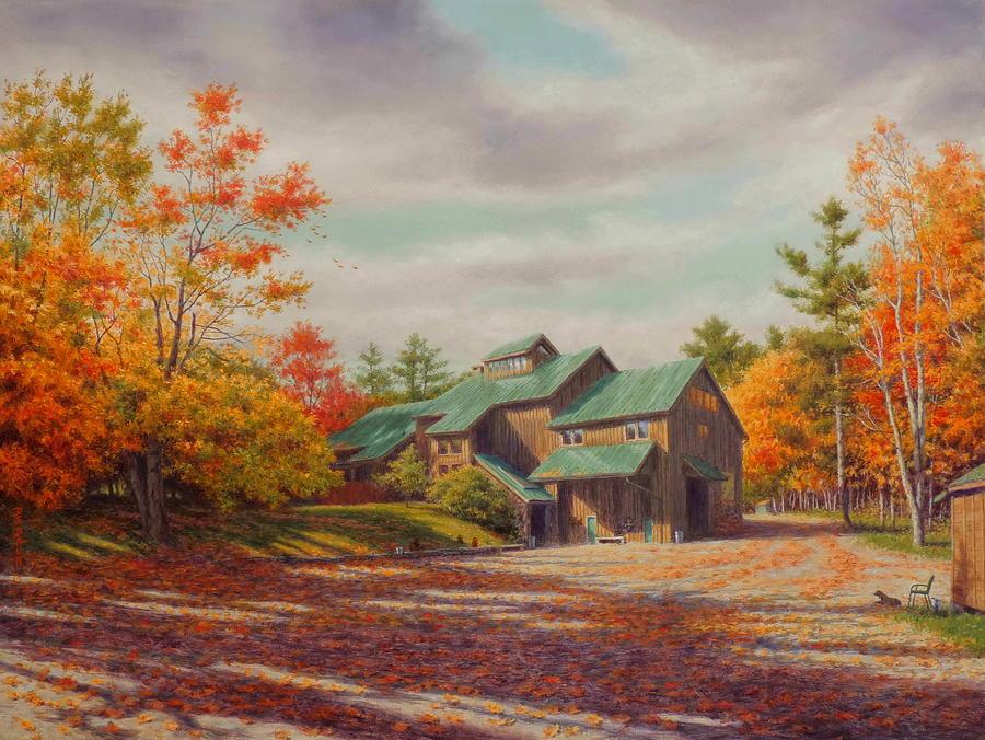 Landscape Painting - Levon Helm Studios Legendary Ramble Barn by Barry DeBaun