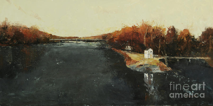 Lewis Island Painting - Lewes Island, Lambertville, NJ by Paint Box Studio