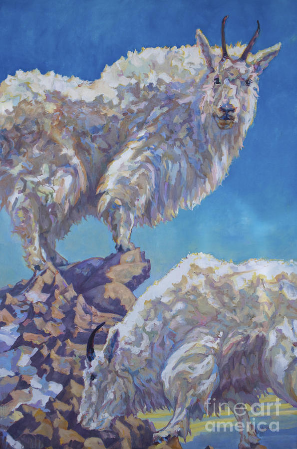 Mountain Goats Painting - Lewis An Clark by Patricia A Griffin